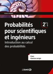 Dernières parutions sur Probabilités, Probabilités pour scientifiques et ingénieurs