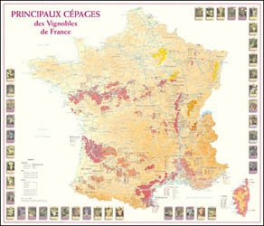 Dernières parutions sur Cartes, Principaux Cépages des Vignobles de France