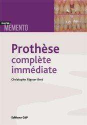 Dernières parutions sur Pharmacie, Prothèse complète immédiate
