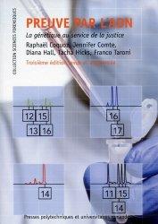 Dernières parutions dans Sciences forensiques, Preuve par l'ADN