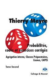 Dernières parutions dans Im-et-Ker, Probabilités, cours et exercices corrigés