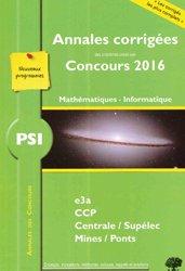 Dernières parutions dans Annales des Concours, PSI Mathématiques Informatique