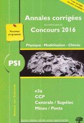 Dernières parutions dans Annales des Concours, PSI Physique Modélisation Chimie