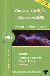 Dernières parutions sur Physique pour la prépa, PSI physique, modélisation et chimie