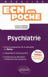 Dernières parutions dans ECN en poche, Psychiatrie