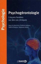 Dernières parutions sur Gérontopsychiatrie, Psychogérontologie