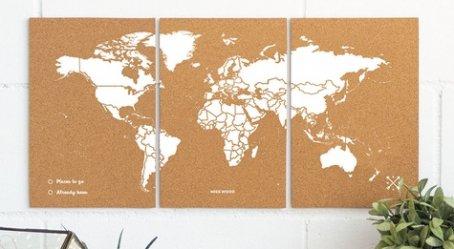 Dernières parutions sur Cartes monde, Puzzle woody map m - white