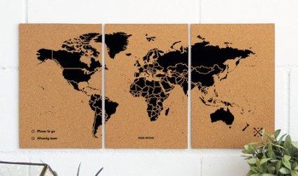 Dernières parutions sur Cartes monde, Puzzle woody map m - black