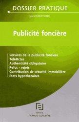 Dernières parutions dans Dossiers pratiques, Publicité foncière