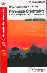 Dernières parutions dans Topo Guides GR, Pyrénées orientales - la traversée des Pyrénées