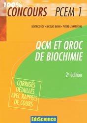 Souvent acheté avec Biologie cellulaire 300 QCM, le QCM et QROC de biochimie