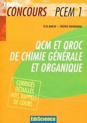 Souvent acheté avec Biostatistique et probabilités, le QCM et QROC de chimie générale et organique