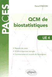 Souvent acheté avec 900 QCM de biologie cellulaire, histologie et embryologie UE2, le QCM de biostatistiques