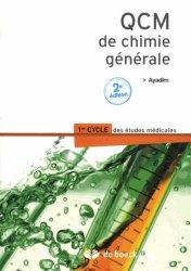 Dernières parutions sur UE1 Chimie générale, QCM de chimie générale