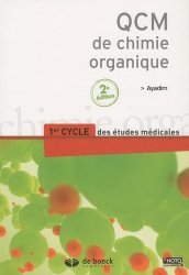 Dernières parutions sur UE1 Chimie organique, QCM de chimie organique