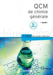 Souvent acheté avec Thermo-mécanique des fluides, le QCM de chimie générale chimie organique, chimie générale, biochimie,