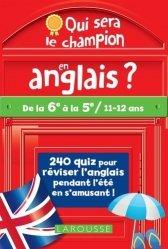 Dernières parutions sur Méthodes de langue (scolaire), Qui sera le champion en anglais ?