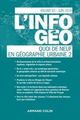 Dernières parutions dans L'information géographique, Quoi de neuf en géographie urbaine 2