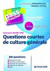 Souvent acheté avec Actualité sanitaire et sociale, le Questions courtes de culture générale