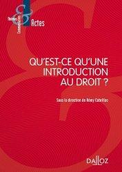 Dernières parutions sur Introduction au droit civil, Qu'est-ce qu'une introduction au droit ?