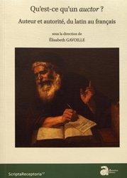 Dernières parutions sur Méthodes de langue (Scolaire), Qu'est-ce qu'un auctor?