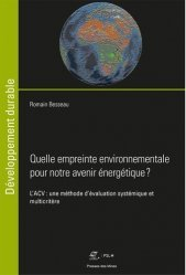 Dernières parutions sur Énergies, Quelle empreinte environnementale pour notre avenir énergétique ?
