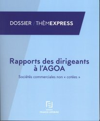 Dernières parutions dans Thèmexpress, Rapport des dirigeants à l'AGOA. Sociétés commerciales non
