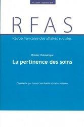 Dernières parutions sur Politiques sociales, Revue française des Affaires sociales N° 3/2019 : La pertinence des soins