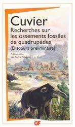 Dernières parutions dans GF, Recherches sur les ossements fossiles de quadrupèdes