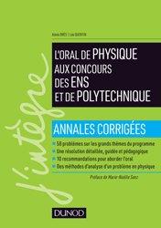 Dernières parutions dans J'intègre, L'oral de physique aux concours des ENS et de Polytechnique
