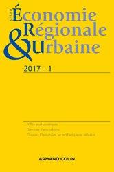 Revue d'économie régionale et urbaine nº 1/2017 Varia