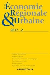 Dernières parutions dans Revue d'économie régionale et urbaine, Revue d'économie régionale et urbaine nº 2/2017 Varia