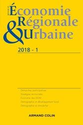 Dernières parutions dans Revue d'économie régionale et urbaine, Revue d'économie régionale et urbaine nº 1/2018 Varia