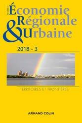 Dernières parutions dans Revue d'économie régionale et urbaine, Revue d'économie régionale et urbaine nº 3/2018 Territoires et frontières