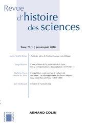 Dernières parutions dans Revue d'histoire des sciences, Revue d'histoire des sciences (1/2018) Sciences, pouvoirs et culture matérielle : Le laboratoire dan
