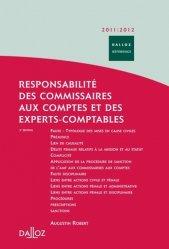Dernières parutions dans Dalloz référence, Responsabilité des commissaires aux comptes et des experts-comptables. Civile - Pénale - Administrative - Disciplinaire, Edition 2011-2012