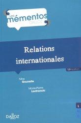 Dernières parutions dans Mémentos Dalloz, Relations internationales. 11e édition