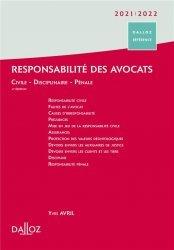 Dernières parutions sur Responsabilité civile, Responsabilité des avocats - 4e ed.