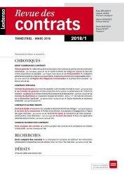 Dernières parutions dans Systèmes, Revue des contrats N° 1/2018