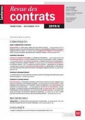 Dernières parutions sur Revues de droit et justice, Revue des contrats N° 4, décembre 2019