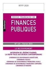 Dernières parutions sur Finances publiques, Revue française de finances publiques N° 149, février 2020