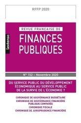 Dernières parutions sur Finances publiques, Revue Française de Finances Publiques