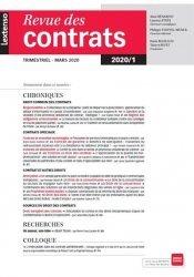 Dernières parutions sur Revues de droit et justice, Revue des contrats N° 1, avril 2020