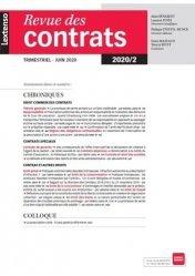Dernières parutions sur Revues de droit et justice, Revue des contrats N° 2, 2020