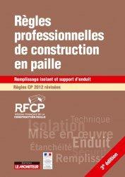 Dernières parutions sur Architecture durable, Règles professionnelles de construction en paille Régles CP 2017