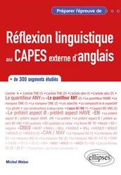 Dernières parutions sur CAPES, Réflexion linguistique au CAPES externe d'anglais
