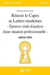 Dernières parutions dans Clefs Concours, Réussir le Capes de lettres modernes option latin