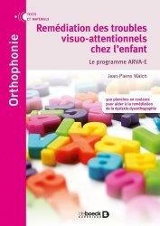 Dernières parutions sur Matériel, Remédiation des troubles visuo-attentionnels chez l'enfant