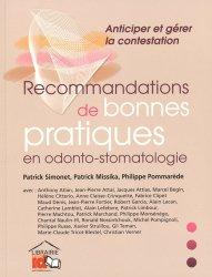 Souvent acheté avec Adhésifs et substituts de rétention en prothèse amovible, le Recommandations de bonnes pratiques en odonto-stomatologie
