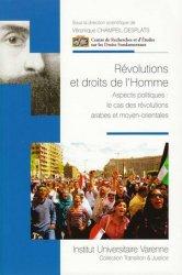 Dernières parutions dans Transition & justice, Révolutions et droits de l'homme. Aspects politiques : le cas des révolutions arabes et moyen-orientales